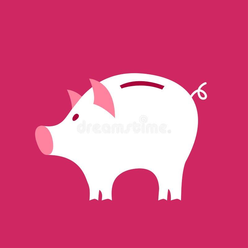 Moneybox symbol Den färgrika mallen för dig planlägger, rengöringsduken och mobilapplikationer royaltyfri illustrationer