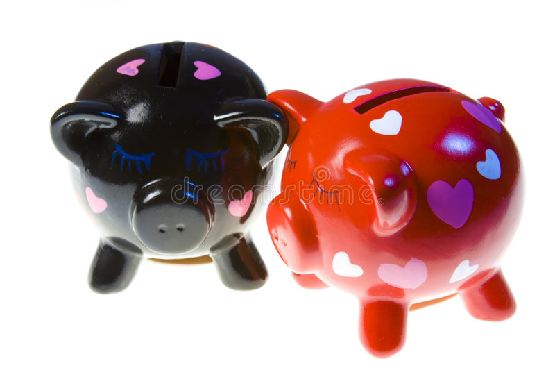 Moneyboxes royalty free stock images