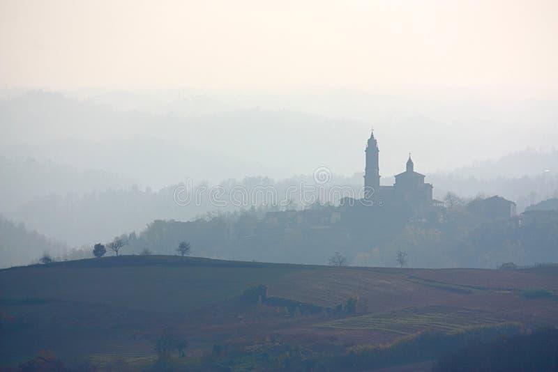 Monferrato skyline, Italy stock images