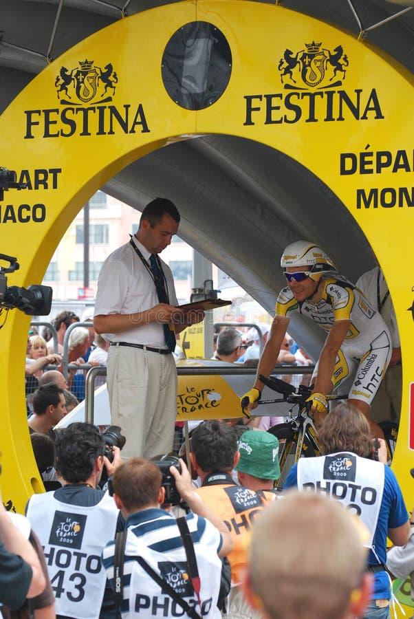 Monfort Maxime - Tour de France 2009 lizenzfreies stockbild
