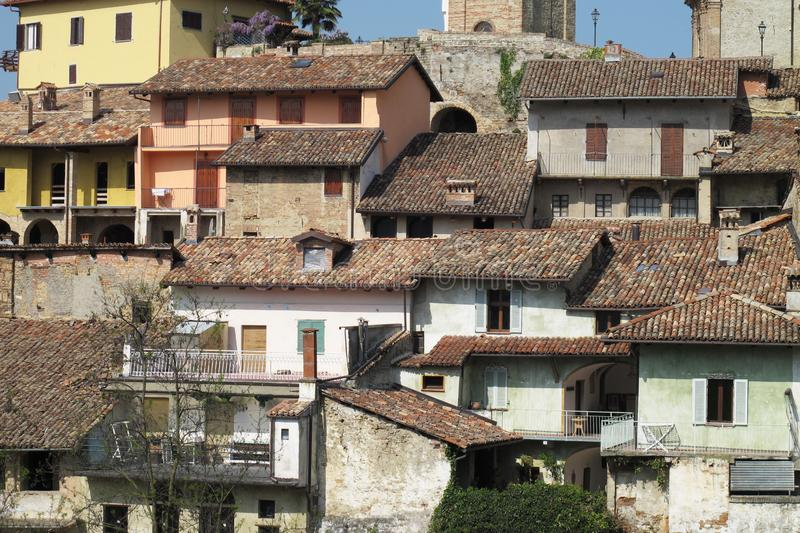 The town of Monforte d`Alba in northern Italy. royalty free stock photo