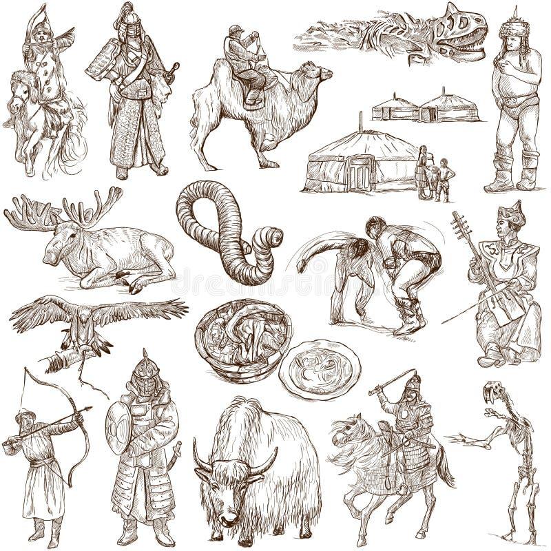 Mongólia ilustração do vetor