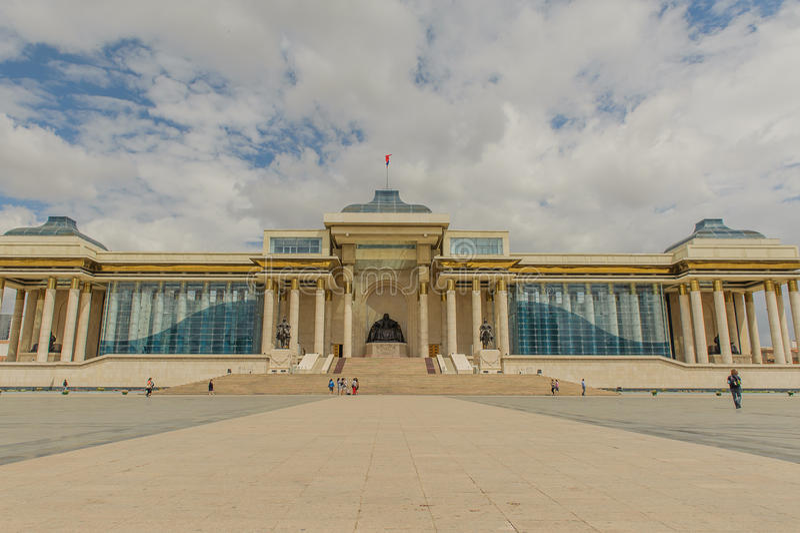 Mongólia - Ulaanbaatar - Chinggis Khan Squeare foto de stock