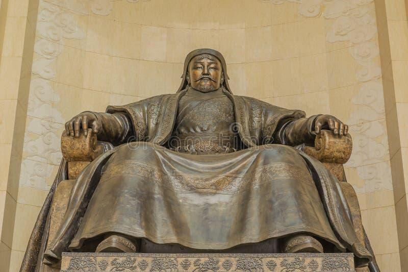 Mongólia - Ulaanbaatar - Chinggis Khan Statue fotos de stock
