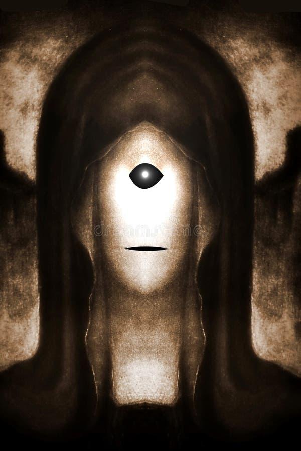 Monge amedrontando da ceifeira dos Cyclops - efeito do Sepia imagens de stock