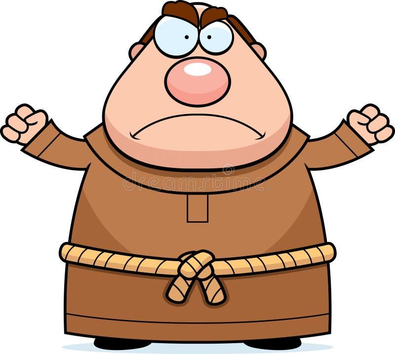 Monge Angry dos desenhos animados ilustração royalty free