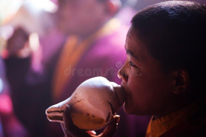 Monge budista pequena imagens de stock