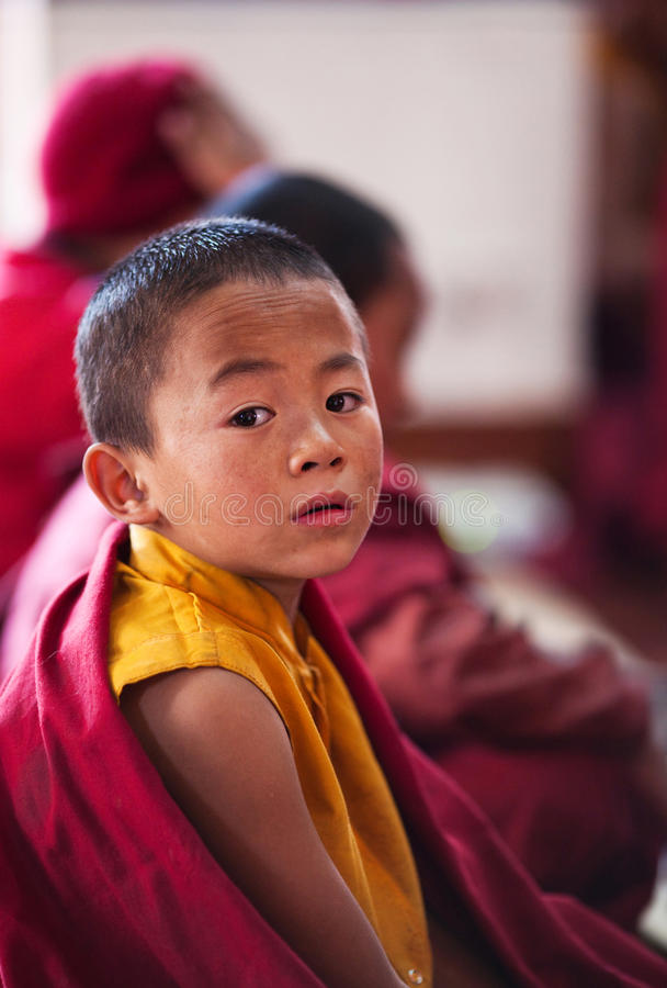 Monge budista pequena fotografia de stock