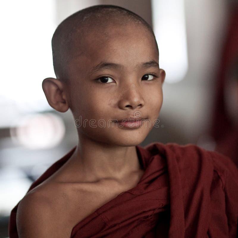 Monge budista pequena imagem de stock