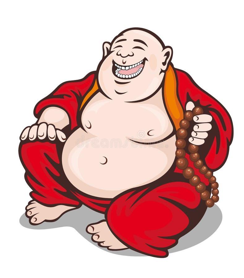 Monge com rosário ilustração royalty free