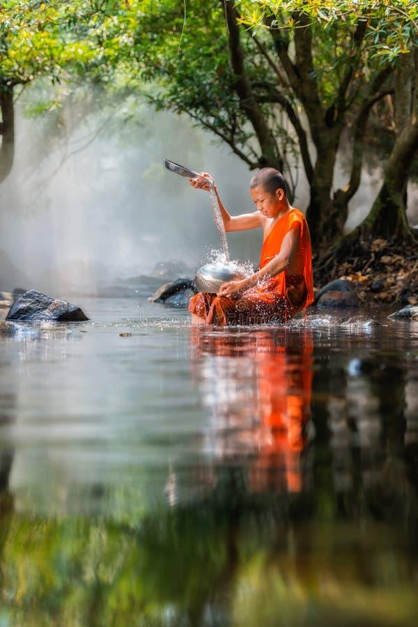 Monge do principiante em Tailândia fotografia de stock