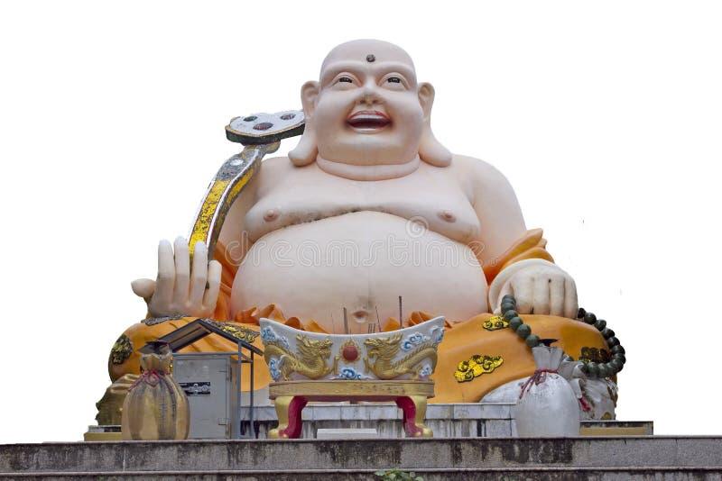 A monge do sorriso da porcelana. foto de stock