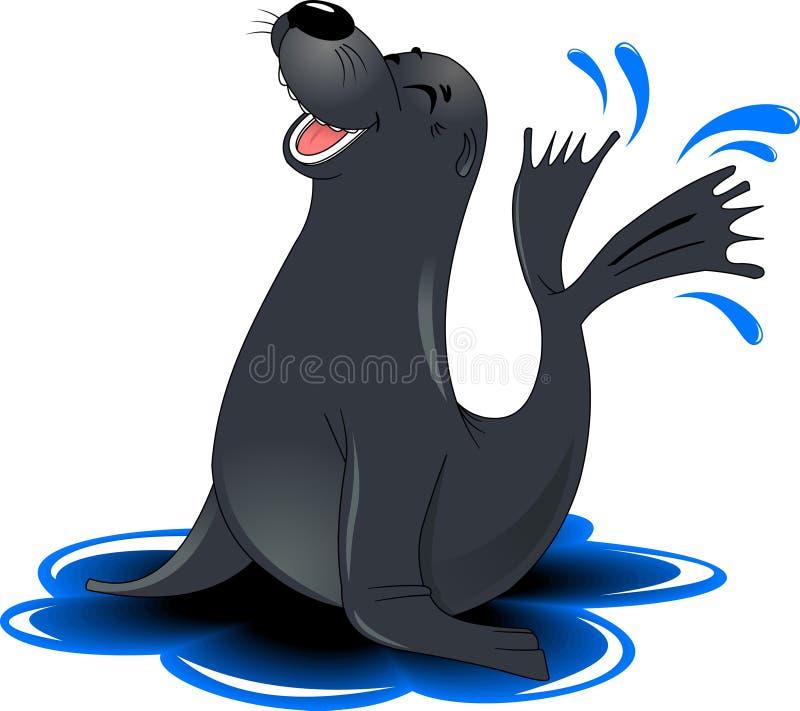Monge Seal ilustração royalty free