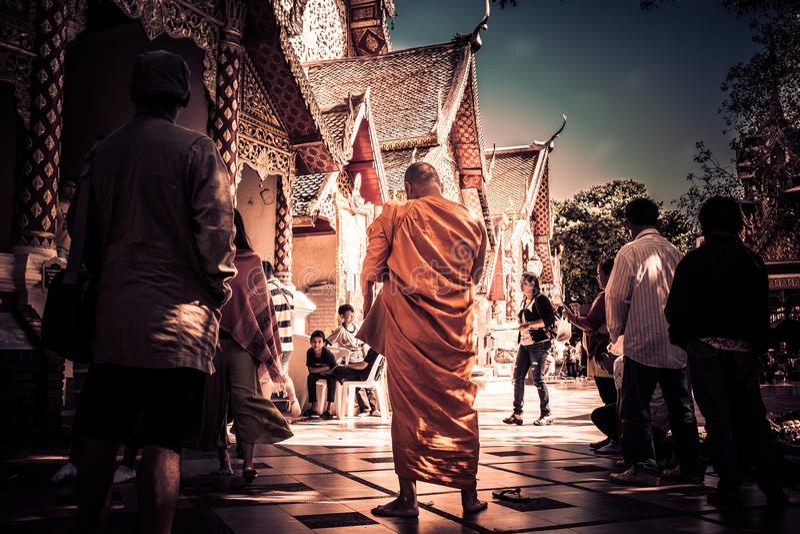 Monge Tailândia fotografia de stock royalty free
