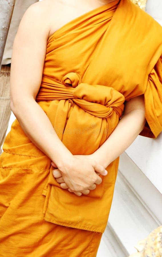Monge tailandesa fotografia de stock
