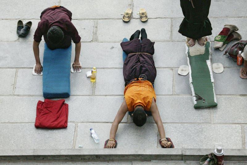 Monge tibetana em Lhasa foto de stock royalty free
