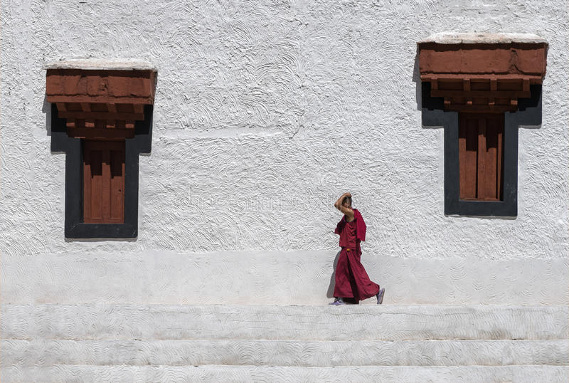 Monge Walking foto de stock royalty free