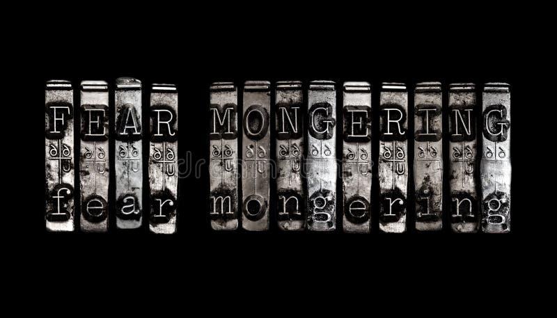 mongering的恐惧 免版税图库摄影