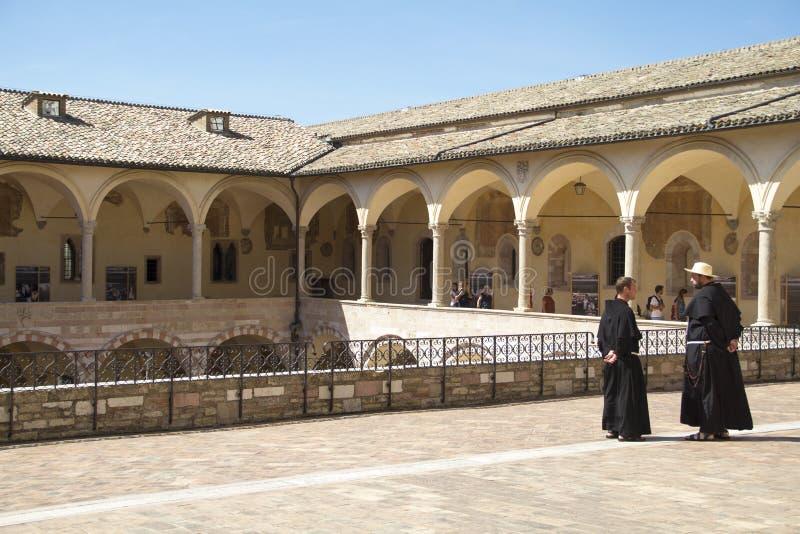 Monges no assisi Italia imagens de stock