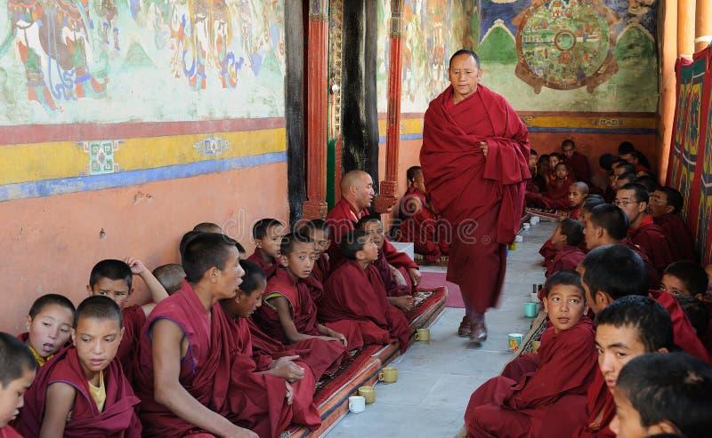 Monges tibetanas foto de stock royalty free