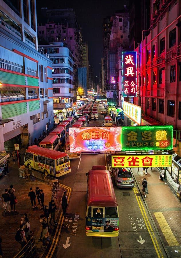 Mongkok, Hong Kong stockfotos
