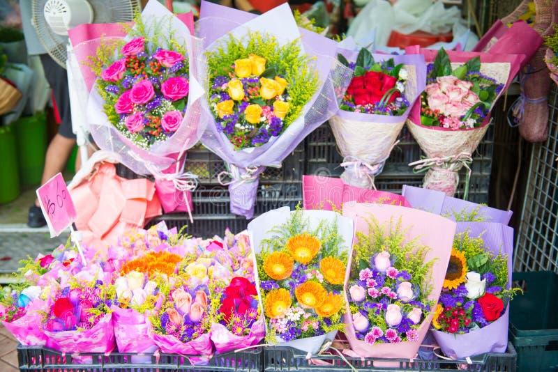 Mongkok Hong Kong, Wrzesień, - 24, 2016: Kwiat i drzewo dla sa obrazy royalty free