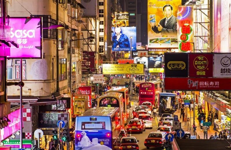 Mongkok i Hong Kong royaltyfria bilder