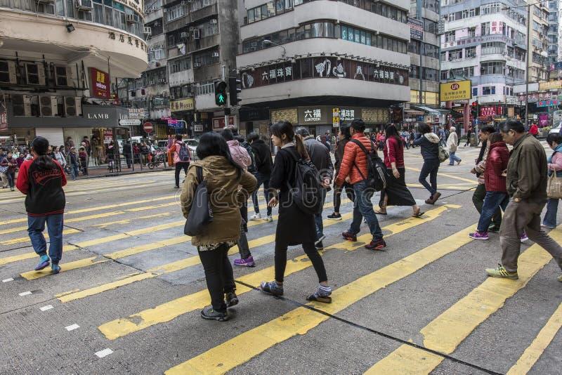 Mongkok-Nachbarschaft in Hong Kong stockbild