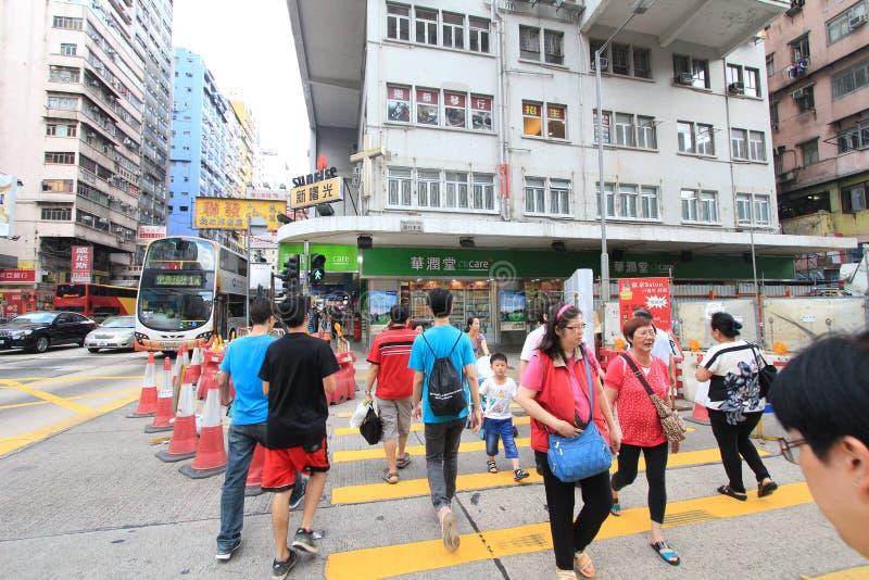 Mongkok-Straßenansicht in Hong Kong lizenzfreies stockbild