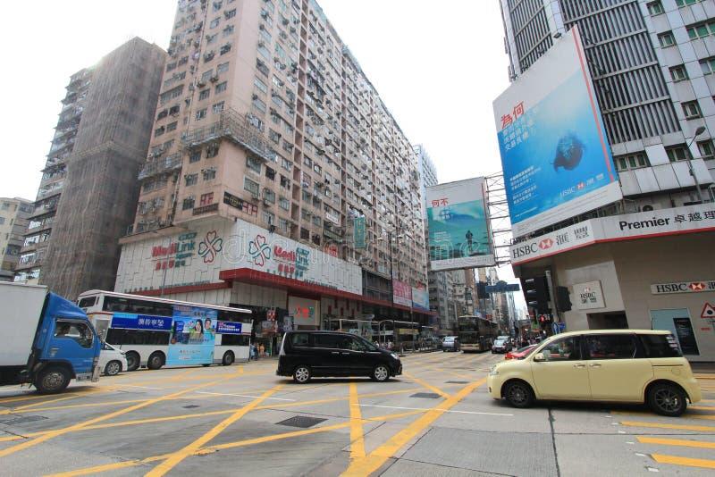 Mongkok-Straßenansicht in Hong Kong lizenzfreie stockfotos