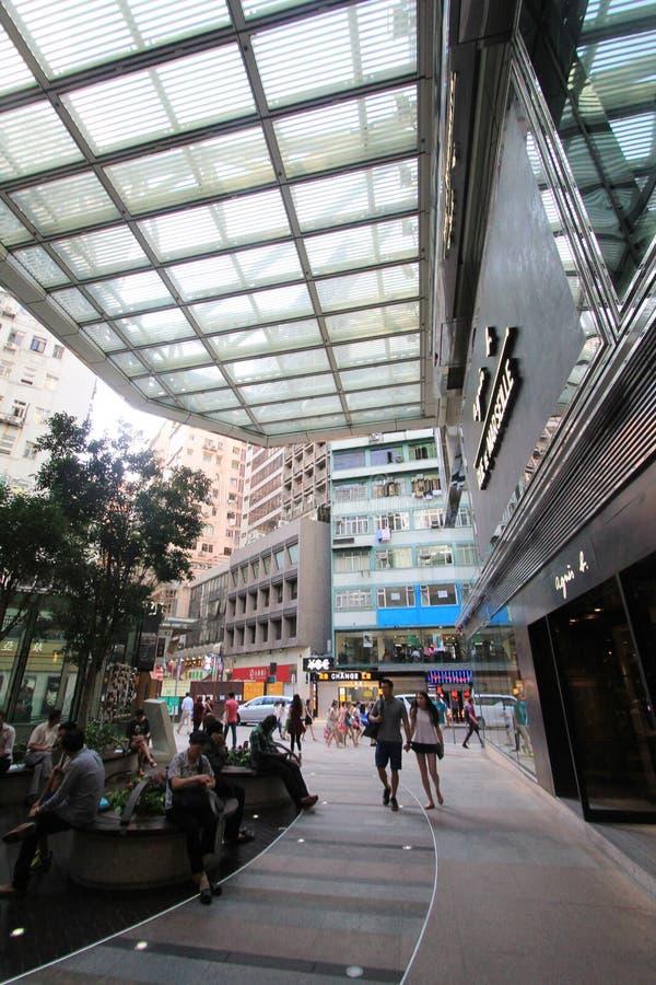 Mongkok-Straßenansicht in Hong Kong stockfotografie