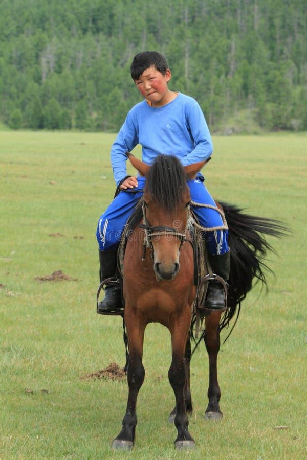 Mongol Equestrian photos libres de droits