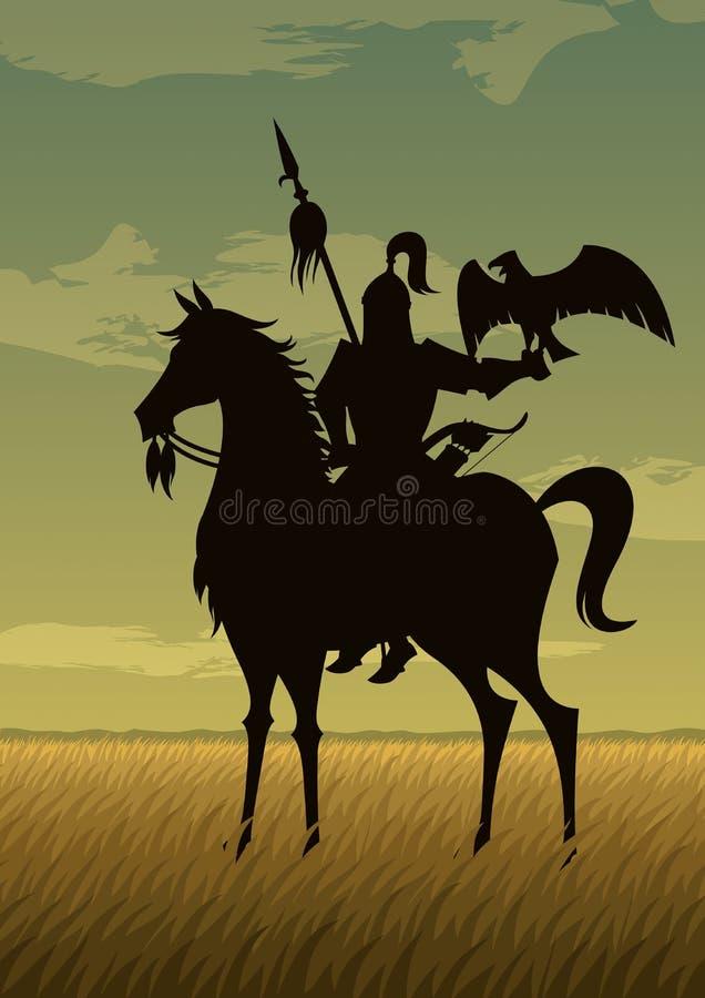 Mongol wojownik royalty ilustracja
