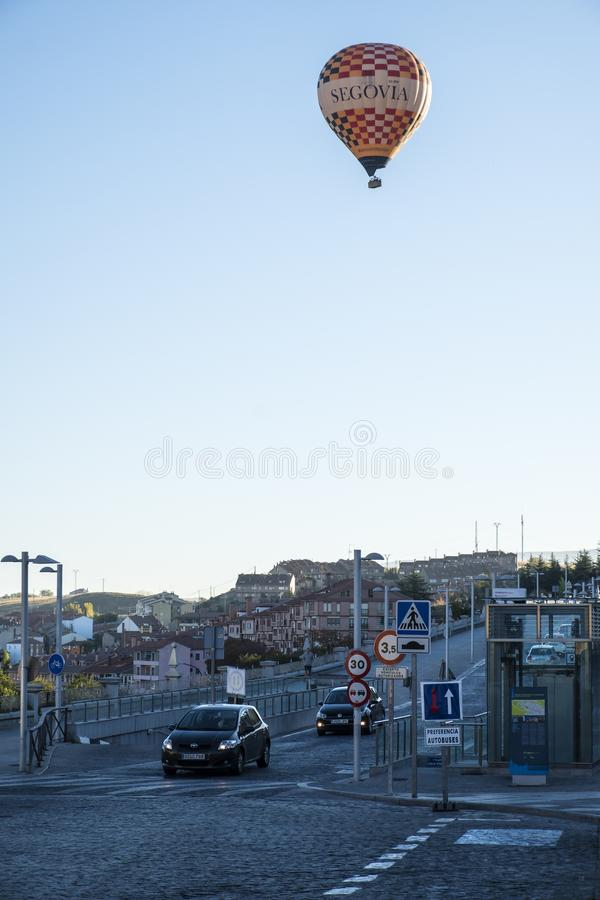 Mongolfiera presto a Segovia Spagna #6 fotografia stock