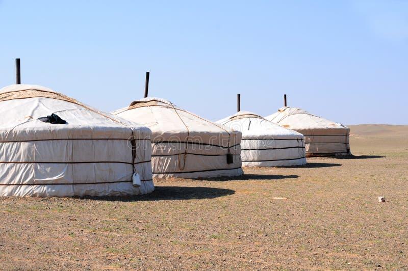 Mongolia – nomad gers (yurt) stock images