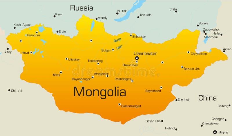 Mongolia royalty ilustracja
