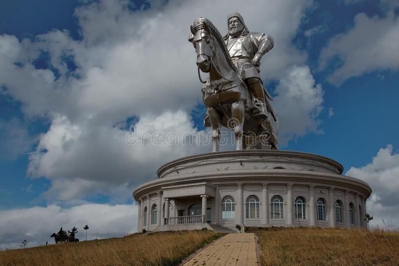 Monument To The Great Genghis Khan stock images