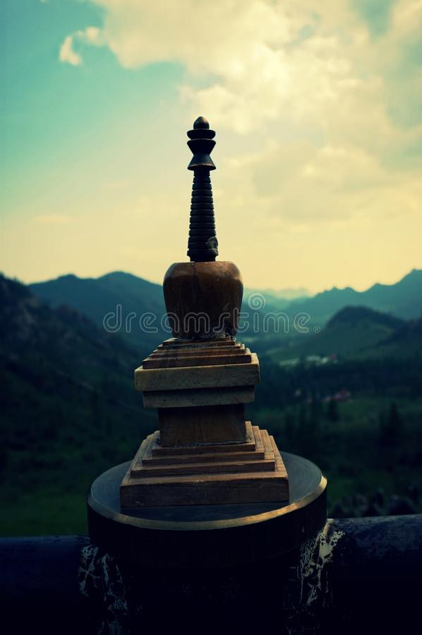 Mongolia Genghis Khan Park the mountains buddhist monastery. Travel August 2018 year.Mongolia Genghis Khan Park the mountains fancy stones Country blue sky royalty free stock images