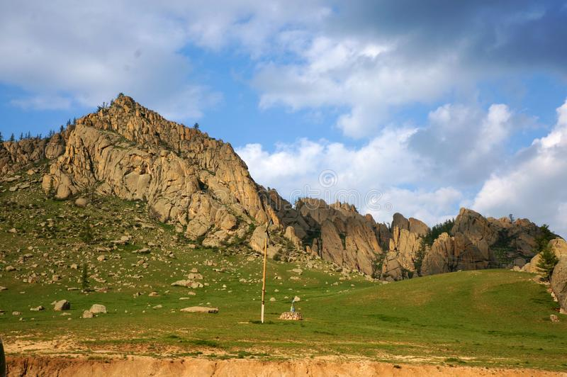 Mongolia Genghis Khan Park the mountains fancy stones royalty free stock photography