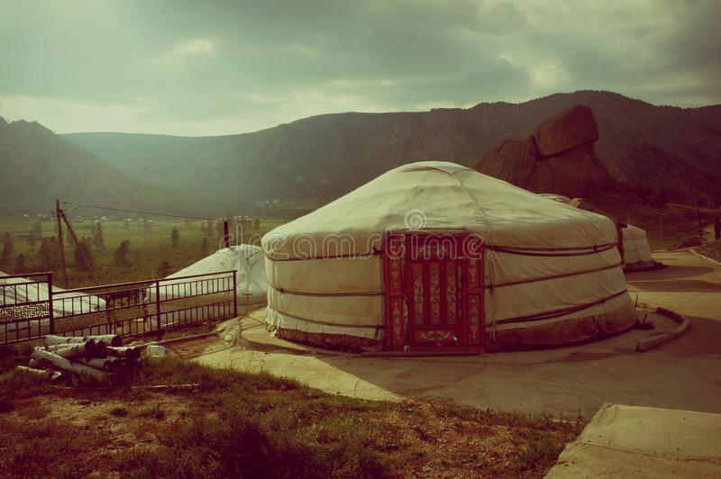 Mongolia Genghis Khan Park Yurt national dwelling royalty free stock images