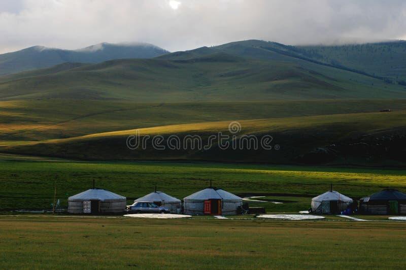 mongolia landskap arkivbilder