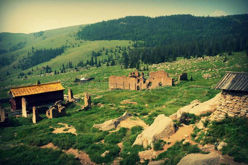 Mongolia The Manjushri Monastery, which is located in Tuv Aimak, is 43 km south of Ulaanbaatar. royalty free stock photography