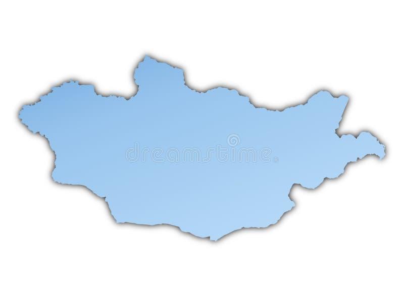 Mongolia Map Stock Photo