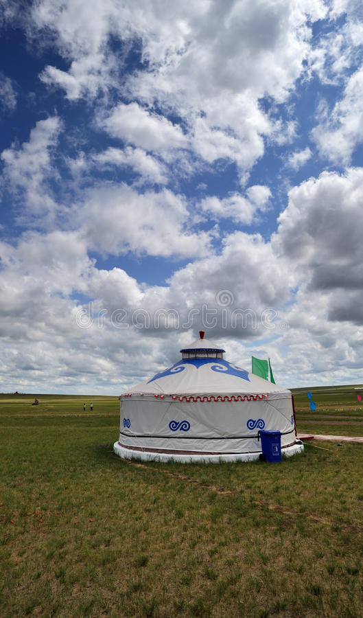 Mongolia pakunku Jurta obrazy royalty free