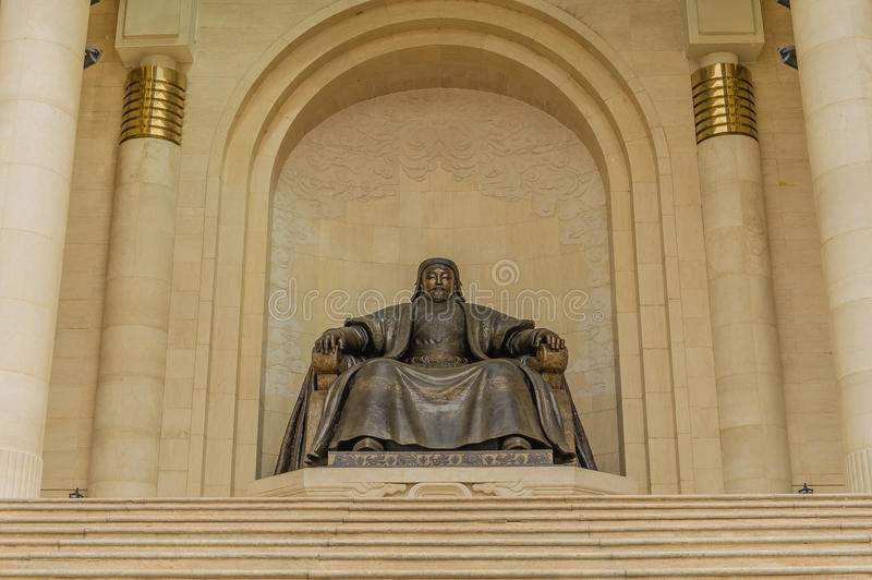 Mongolia - Ulaanbaatar - Chinggis Khan Statue stock photography