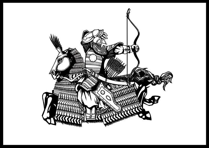 Mongolian Archer illustration stock