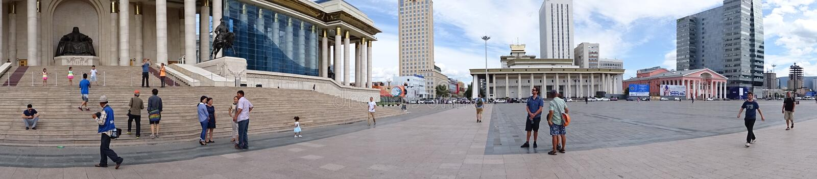 Mongolian central square stock photography