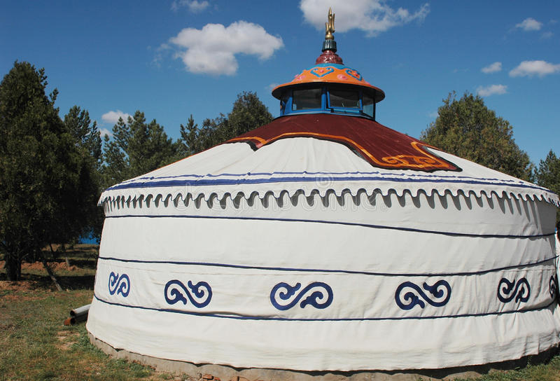 Mongolian Ger. A typical Mongolian ger in Monglia stock photos