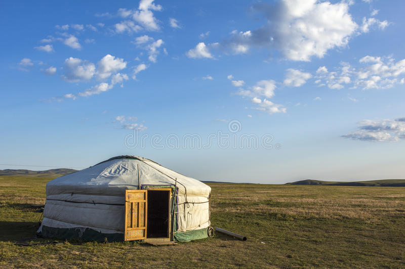 Mongolian Ger Steppe. Mongolian Ger in the steppe Mongolia, Asia royalty free stock image