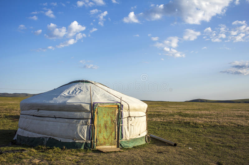 Mongolian Ger Steppe. Mongolian Ger in the steppe Mongolia, Asia royalty free stock images